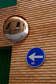 The signs on the street in Zaragoza — Stock Photo