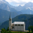 Church on Italian mountains — Stock Photo