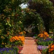 Stock Photo: Flower arch in garden, Graz