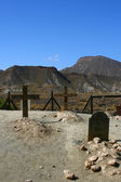 The cemetery Tabernas, Spain desert — Stock Photo