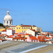 Classic panorama of Lisboa — Stock Photo