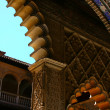 Part of moorish architecture Seville — Stock Photo