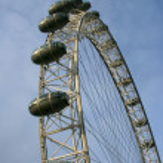 Great Londons Eye on a blue sky — Stock Photo #2405599