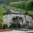 Stock Photo: Fountain cascade on Linderhof Palace