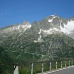 Road on switzerland mountains — Stock Photo