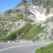 Road on switzerland mountains — Stock Photo