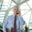Stock Photo: Businessman Talking On Cell Phone