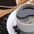 Close up of a delicious cup of coffee — Stock Photo