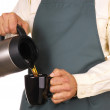 barista pouring coffee — Stock Photo