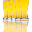 Five Glasses of Beer — Stock Photo