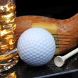 Golf Club and Ball - Stock Photo