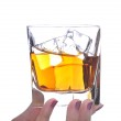 Woman Holding Drink in Her Fingers — Stock Photo