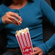 Stock Photo: Girl at movies