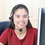 Smiling Receptionist — Stock Photo