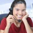 Smiling Receptionist — Stock Photo