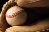 Baseball and Glove Close up — Stock Photo