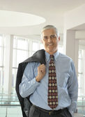 Middle Aged Businessman with Jacket — Stock Photo