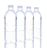 Plastic Water Bottle in a Row — Stock Photo