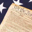 Constitution on Flag — Stock Photo