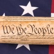 Stock Photo: Constitution on Flag