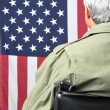 Veteran in Wheelchair - Stock Photo