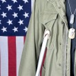 Stock Photo: Veterwith Crutch