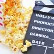 Popcorn and Clapboard — Stock Photo #2083453