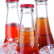 Soda Bottles in ice Bucket — Stock Photo #2084125