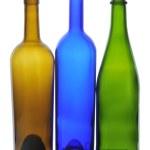 Three Empty Wine Bottles — Stock Photo