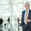 Business Traveler in Airport — Stock Photo