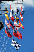 Semaphore Flags — Stock Photo
