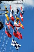 Semaphore Flags — Stock Photo