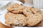 Plate of Oatmeal Cookies — Stock Photo