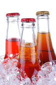 Soda Bottles in ice Bucket — Stock Photo