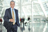 Business Traveler in Airport Concourse — Stock Photo