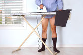 Man Ironing Pants — Stock Photo