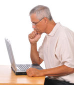 Businessman Seated at Computer — Stock Photo