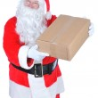 Santa Delivering Package — Stock Photo