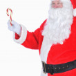 Santa Claus With Candy Cane — Stock Photo