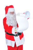 Santa Claus with a Blank Naughty List — Stock Photo
