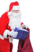 把本在袋中的圣诞老人 — 图库照片