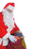 Santa Claus with a Bag of Presents — Stock Photo