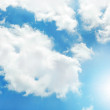 Sunny sky background — Stockfoto