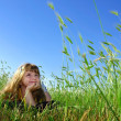 Summer dream in grass — Stock fotografie #2078141