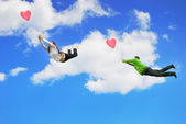 Love can make You fly — Stock Photo