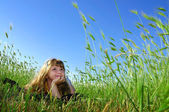 летний сон в траве — Стоковое фото