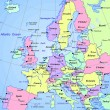 Map of europe continent - Stock Photo