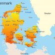 Denmark map — Vettoriale Stock #2080320