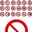 Royalty-Free Stock Vector Image: Prohibited signs