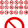 Stock Vector: Prohibited signs